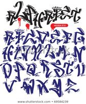 Find graffiti vector alphabet hip-hop urban slyle Stock Vectors and millions of …   – Tag/Schriftzug/Graffiti