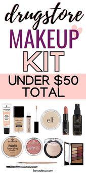 Drogerie Makeup Günstige Starter Kit Unter $ 50 Insgesamt! #Zubehör  – makeup products