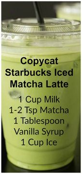 Copycat Starbucks Iced Matcha Latte   – Coffee café capuccino