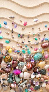 iPhone beach wallpaper shells background