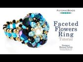 Faceted Flowers Ring- DIY Jewelry Making Tutorial by PotomacBeads –   – #DIY #di…