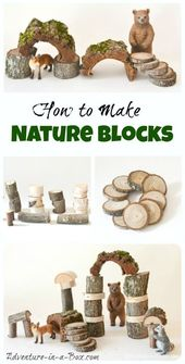Wie man Waldorf-inspirierte Naturblöcke macht: DIY Tutorial