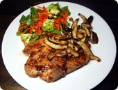 Spicy Asian Pork Chops with Sautéed Mushrooms: A quick, simple, and delightfull…