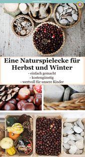 Tschüss Winter! Und eine kleine Liebeserklärung an unsere Naturspielecke – Kids :: Fall/Thanksgiving