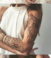 [ad_1] Lotus Arm Sleeve Tattoo-Ideen für Frauen an MyBodiArt.com – Tribal Mandala Arm Bicep Tatt [ad