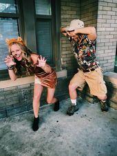 Easy Dyi Safari Jungle Costume Couple Costume Too Jungle