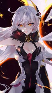 Photo of Anime Girl Beautiful White Hair Kiana Kaslana Honkai Impact …