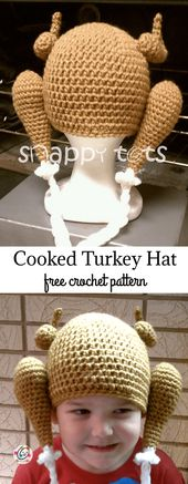 Free Pattern – Cooked Turkey Hat ~ Snappy Tots