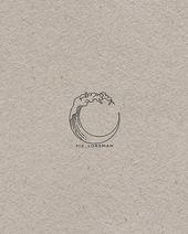 """Elizabeth Forsman auf Instagram: """"Welle und Mond. Bitte verwenden Sie keines meiner Designs ohne Rücksprache mit mir. . #moon #wave #art #artpage #drawing #design #artist # artist… """""""