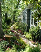 50 Fabulous Side Yard Garden Design – Ideen und Remodel (37