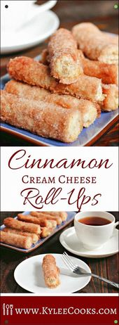 This Baked Cinnamon Cream Cheese Roll-Ups Recipe Is A Simple Process That Yields…