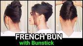 FRANZÖSISCHES Brötchen mit Bunstick für langes Haar // 1 min. Chaotisches Brot # BeautyBlog #MakeupOfTheDay #MakeupByMe #MakeupLife #MakeupTutorial