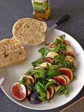 Feigen – Mozzarella – Salat, ein gutes Rezept aus der Kategorie Eier & Käse. Be… – Essen