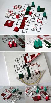 DIY Santa ärgere Dich nicht mit Fimo / Polymer Clay Figuren