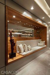 Hallendekoration mit dekorativen Glasvasen #SalaDe… – #dekorativen #Glasvasen