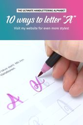 "10 ways to letter ""A"" 