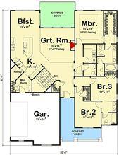 Plan 62500DJ: Compact Modern Farmhouse Ranch Home Plan