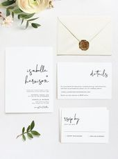 Adella – Modern Minimalist Wedding Invitation Template Suite –   wedding