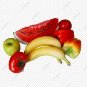 فواكه وخضروات بطيخ موز تفاح طماطم فاكهة الفاكهة الخضروات Png وملف Psd للتحميل مجانا Watermelon Banana Vegetables Tomato