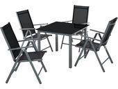 Aluminiumsitzgruppe 4 + 1 dunkelgrau von tectake   – Products