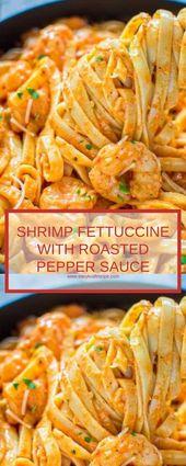 GARNELENFETTUCCINE MIT GEBRATENER PFEFFERSAUCE   – Shrimp Recipes