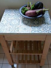 Desserte Bekvam Carrelee Decor Diy Decor De Jardin Diy Diy Ikea