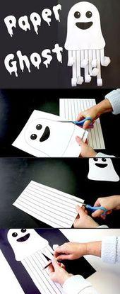 Paper Ghost Picture – Make Movie Play Erstelle dieses gruselige Geisterbild aus …   – herbst