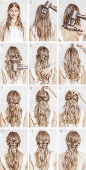 10 + coiffures simples, étape par étape 15