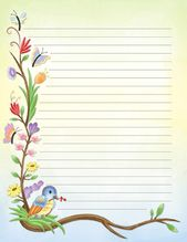 Printable Watercolor Spring Stationery