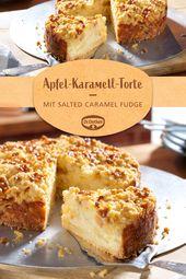 Kleiner Apfel-Karamell-Kuchen   – Für Deine Genuss Werkstatt