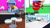 Baby Carrier 10 Custom PET FURNITURE Design Ideas & Building Hack (Roblox Adopt me) | Its Sug...
