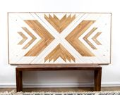 Wood Wall Art – Wooden Wall Art – Wood Headboard – Wooden Wall Art Hanging – Mod…