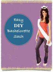 DIY Bachelorette Attire Sashes