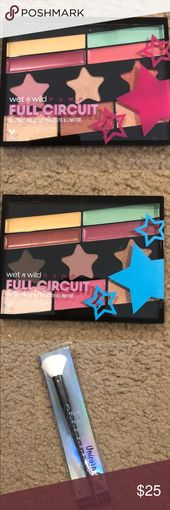 Moist n Wild Bundle Unicorn Glow highlighting brush Full Circuit No Restrict palette …