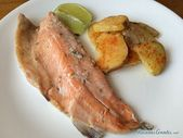 Receta de trucha al horno con papas – Recetas favoritas – #con #favoritas #hor ….   – Patatas