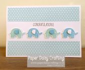 Baby Cards Paper Daisy Crafting: Little Elephant Baby Boy card - Stampin Up