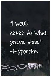 Hypocrisy  – Inspiration, Hope & Strength
