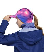 Women ponytail winter fleece running earflap hat men windproof warmer skull cap cycling ski baseball accessories – Products