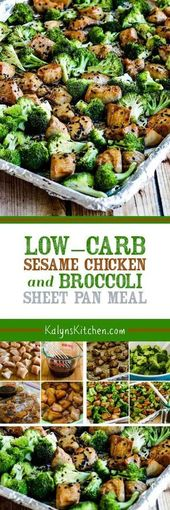 Low-Carb Sesame Chicken and Broccoli Sheet Pan Meal