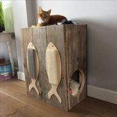 cat toy, cat home, cat scratching board, wood cat home, cat furnishings