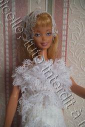 tuto gratuit barbie robe de marie fourreau et dentelle
