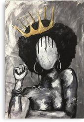 'Naturally Queen' Canvas Print by DaCre8iveOne – draw