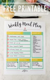 Meal Planning Tips + FREE Meal Planning Printable – Eating Bird Food