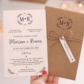 Classic – Einladung mit Umschlag – Invitaciones – #Classic #Invitation #Invitac …   – Hochzeitseinladung