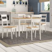 Beecher Falls Dining Set mit 4 Stühlen Breakwater Bay Farbe (Table Top): Eiche / …   – Products