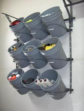 Nice storage idea for a frequently used section in the garage. Would be great fo…