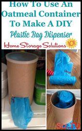 6 DIY-Plastiktütenhalter-Ideen mit Upcycling-Behältern So stellen Sie DIY-Plast …