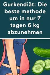 Gurkendiät: Die beste methode um in nur 7 tagen 6 kg abzunehmen