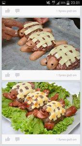 Käse-Würstchen-Schildkröte2 Das ist wirklich eine schöne Idee zum Kinde – Wilcz