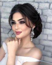 Best 12 Wedding makeup looks and hairstyles, soft glam wedding makeup looks , #G…  – uncategorized
